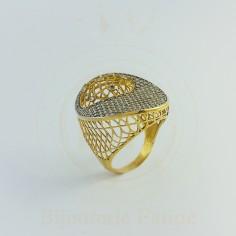 Bague très chic et moderne en or 18 carats