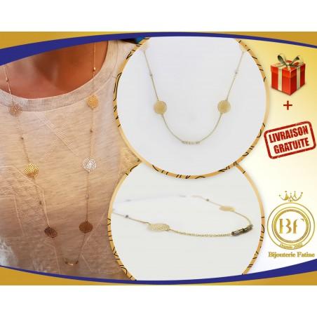 Sautoir très attirant en or 18 carats