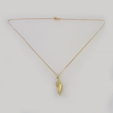 Chaîne pendentif  moderne  en Or 18 carats