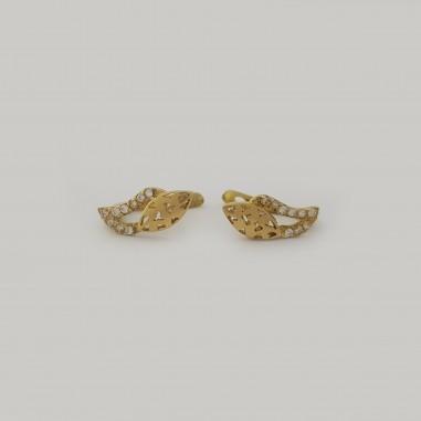 Boucles d'Oreilles très gracieuses en or 18 carats