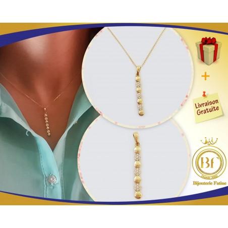 Chaîne Pendentif très chic en or 18 carats