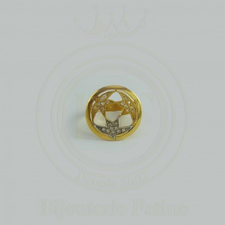 Bague élégante en or 18 carats