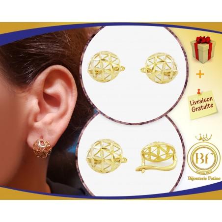 Boucles d'Oreilles 745 très chic en or 18 carats