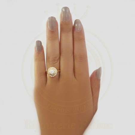 Solitaire chic en Or 18 carats