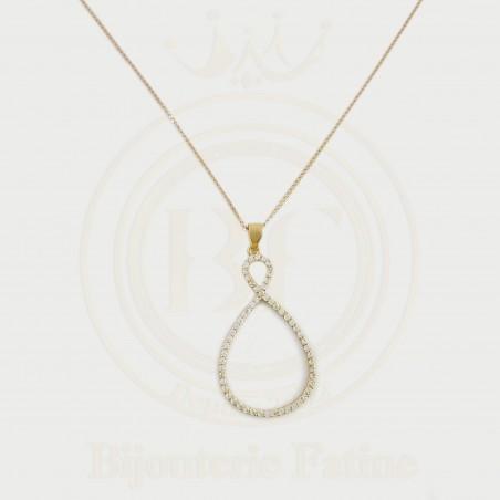Chaîne pendentif de luxe en Or 18 carats