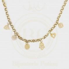 Chaîne pendentif khrichat tellement chic en or 18 carats.