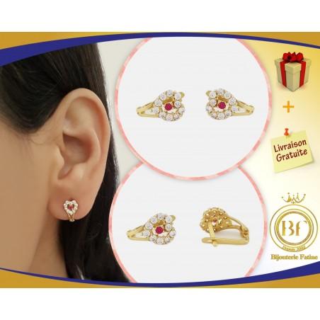 Boucles d'oreilles d'enfants magnifique en Or 18 carats