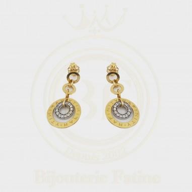 Boucles d'Oreilles Rafinity en or 18 carats