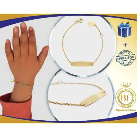 Gourmette Enfants  trés chic en or 18 carats