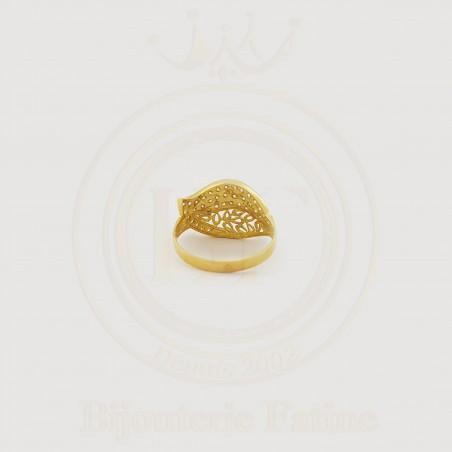 Bague sous forme de feuille d'arbre en or 18 carats