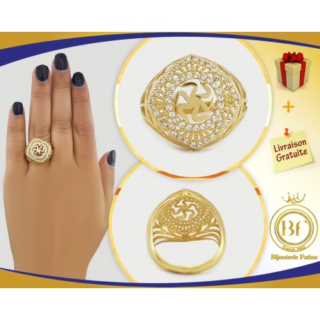 Bague  très attirante en or 18 carats