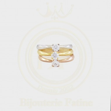 Solitaire très chic simple et moderne en or 18 carats
