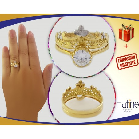 Alliance solitaire tellement fascinante en Or 18 carats