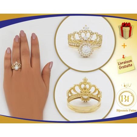 Alliance Solitaire 145  chic et très gracieuse en or 18 carats