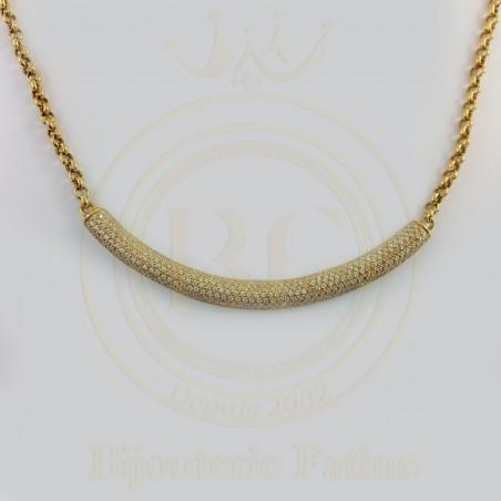 Collier Banana en or 18 carats