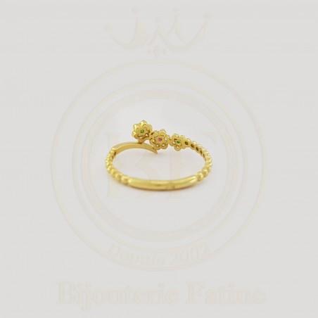 Bague  Fleuri chic  en or 18 carats
