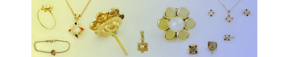 Collection de boucles boutons en Or 18 carats