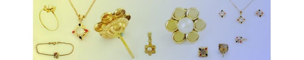 Série de boucles pour enfants en or 18 carats
